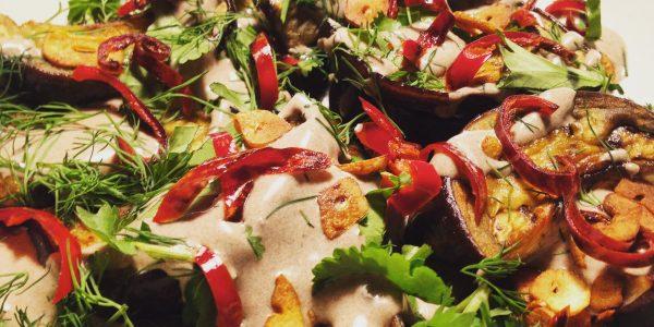 aubergine végétarienne vegan chez mémé cours de cuisine à domicile en alsace colmar ©jeenheine