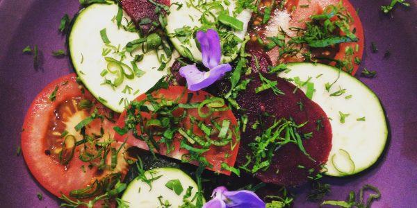 carpaccio cru végétarien cuisine bio chez mémé cours de cuisine à domicile en alsace colmar ©jeenheine